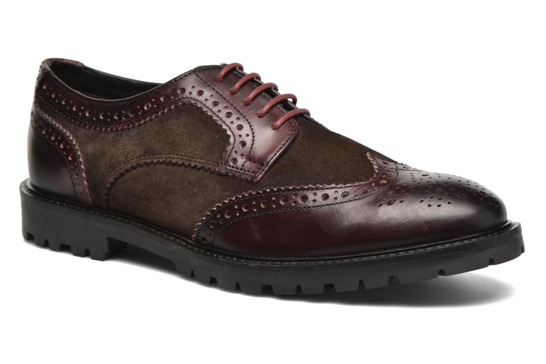 Chaussures à lacets Base London Conflict Bordeaux vue détail/paire