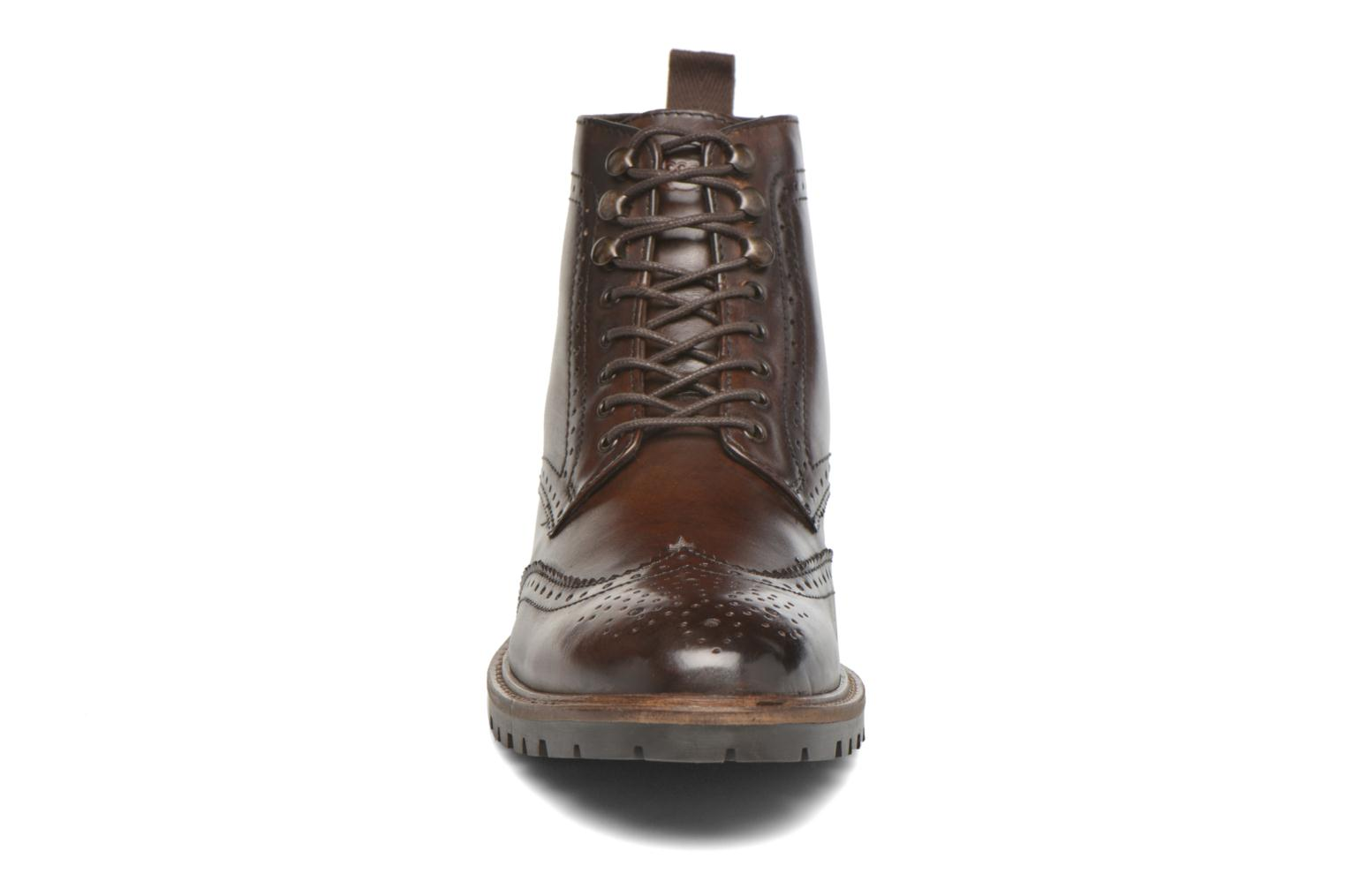 Ankle boots Base London Troop Brown model view