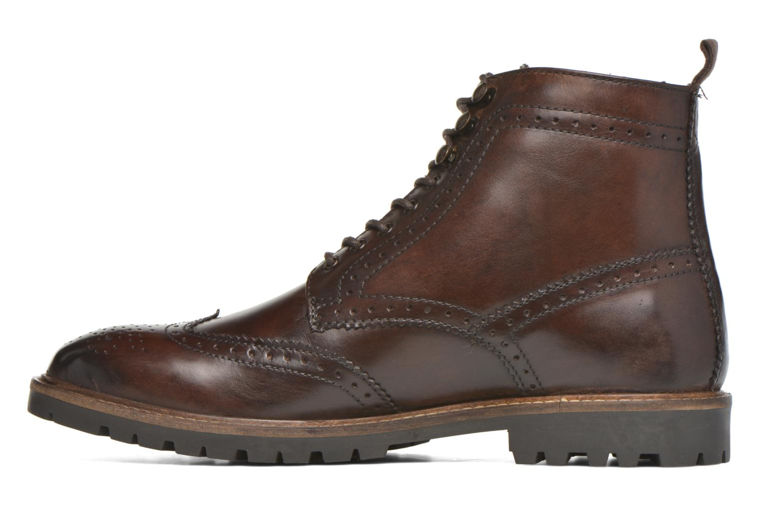 Ankle boots Base London Troop Brown front view