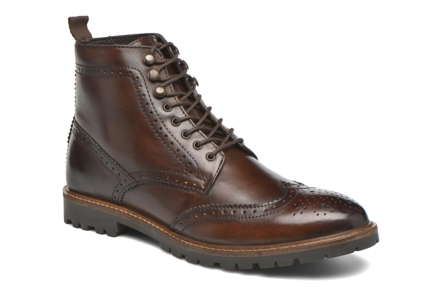 Ankle boots Base London Troop Brown detailed view/ Pair view