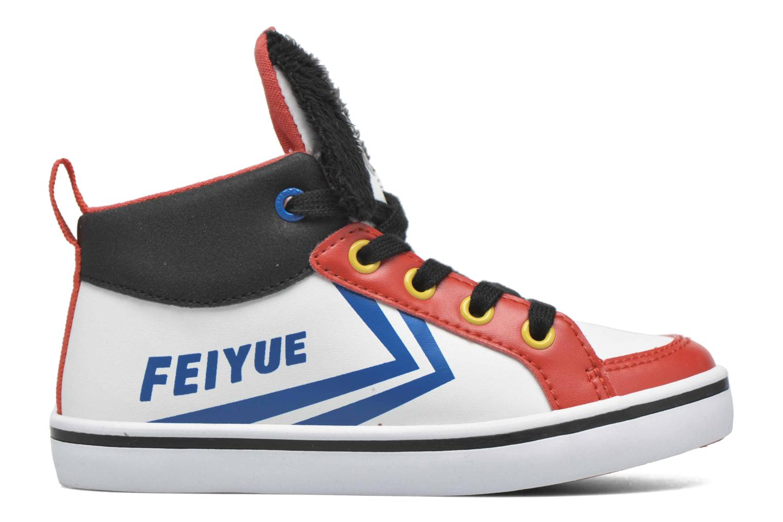 Sneaker Feiyue Delta Mid Peanuts weiß ansicht von hinten