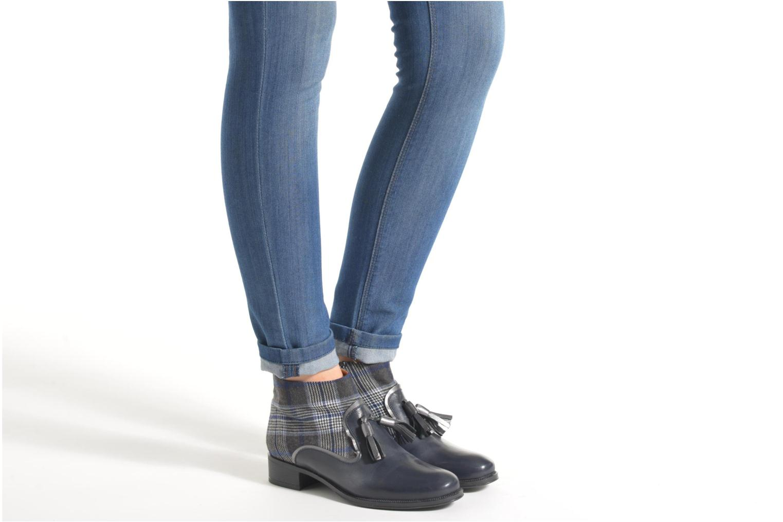 Bottines et boots Made by SARENZA West Mister #10 Bleu vue bas / vue portée sac