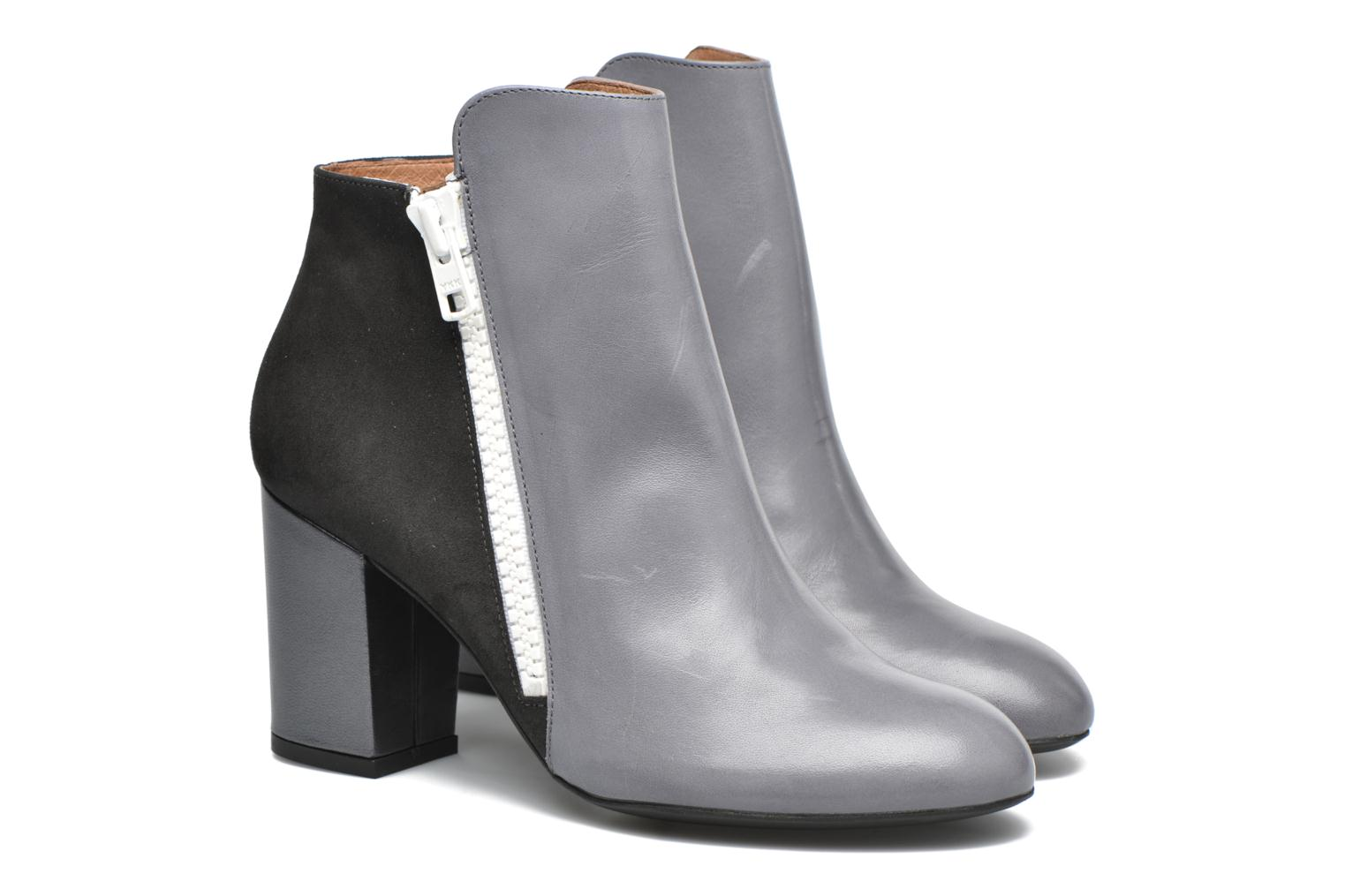 Ankle boots Made by SARENZA Winter Ski #1 Grey back view