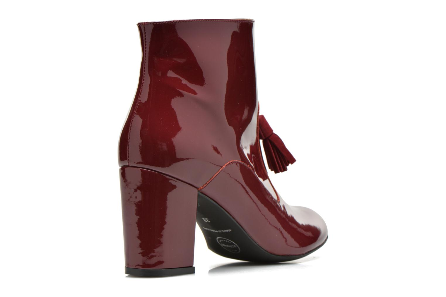Ankle boots Made by SARENZA Winter Freak #5 Burgundy front view