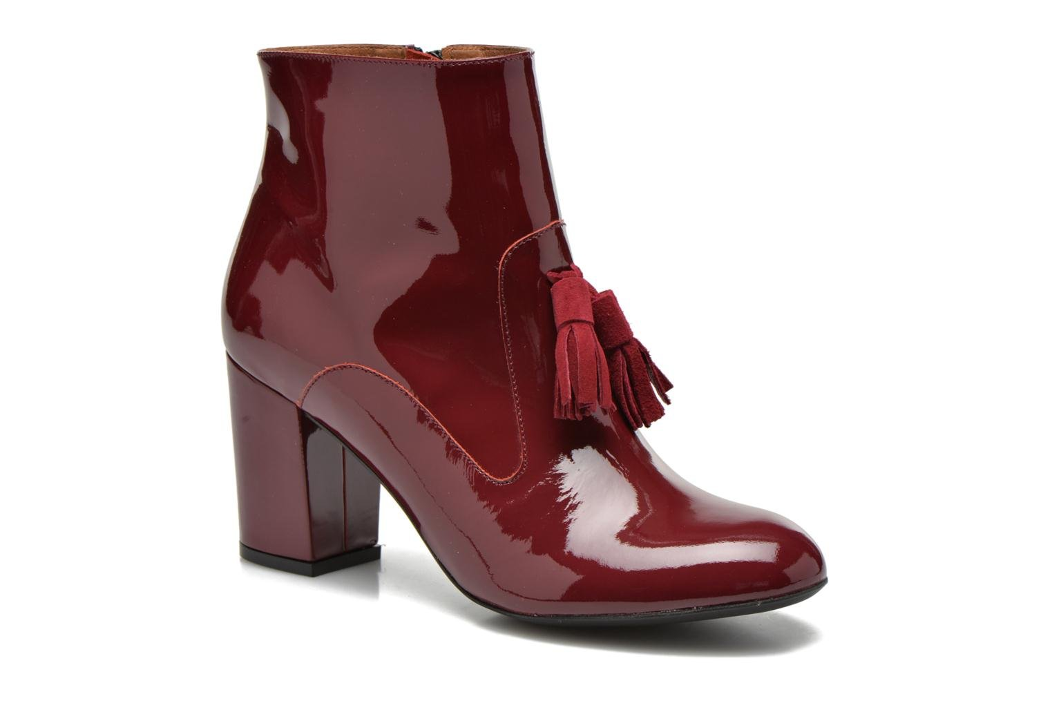 Ankle boots Made by SARENZA Winter Freak #5 Burgundy view from the right