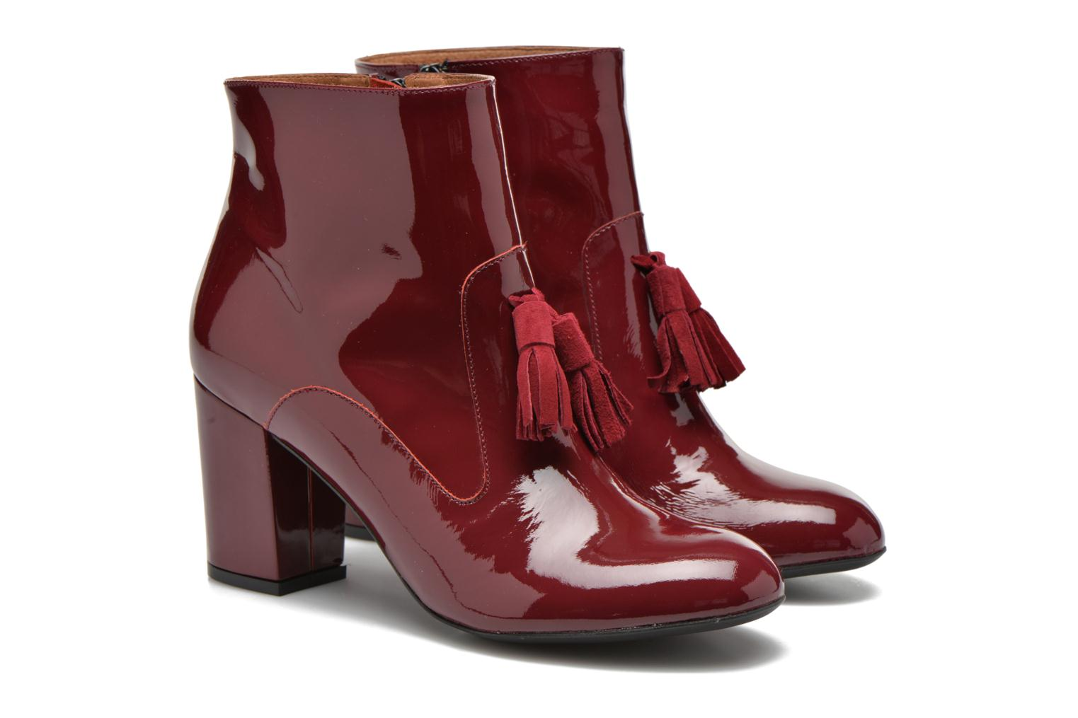Ankle boots Made by SARENZA Winter Freak #5 Burgundy back view