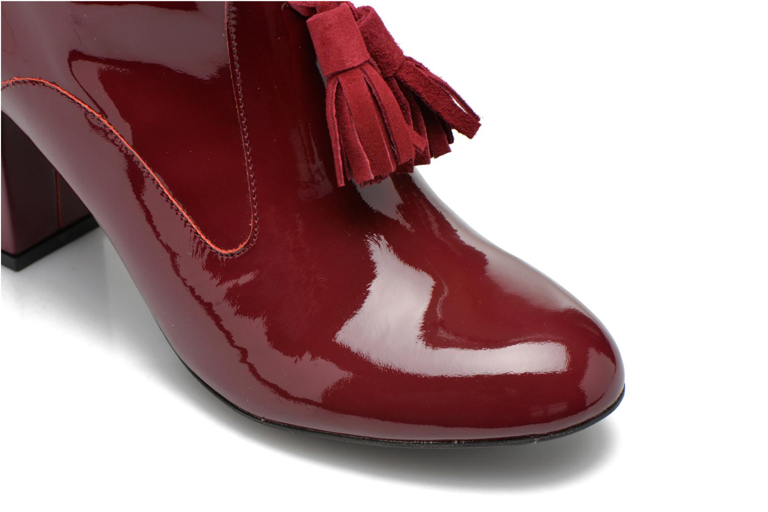 Ankle boots Made by SARENZA Winter Freak #5 Burgundy view from the left