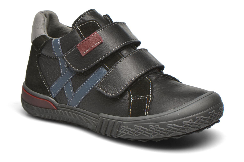 Chaussures à scratch Bopy Vaillant Noir vue détail/paire