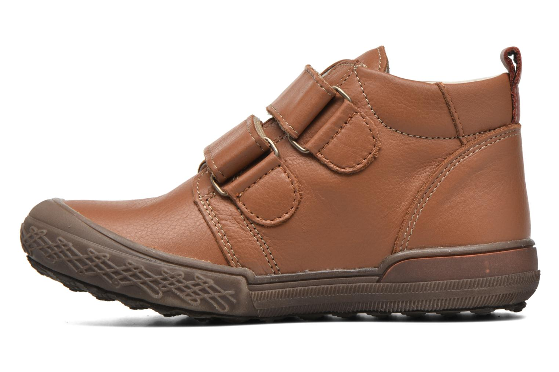 Zapatos con velcro Bopy Vayon Beige vista de frente