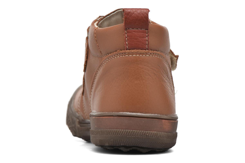 Zapatos con velcro Bopy Vayon Beige vista lateral derecha