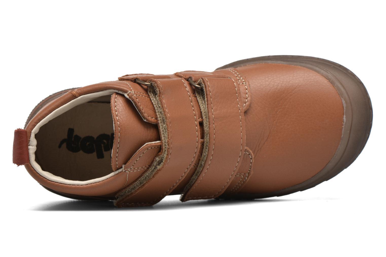 Zapatos con velcro Bopy Vayon Beige vista lateral izquierda