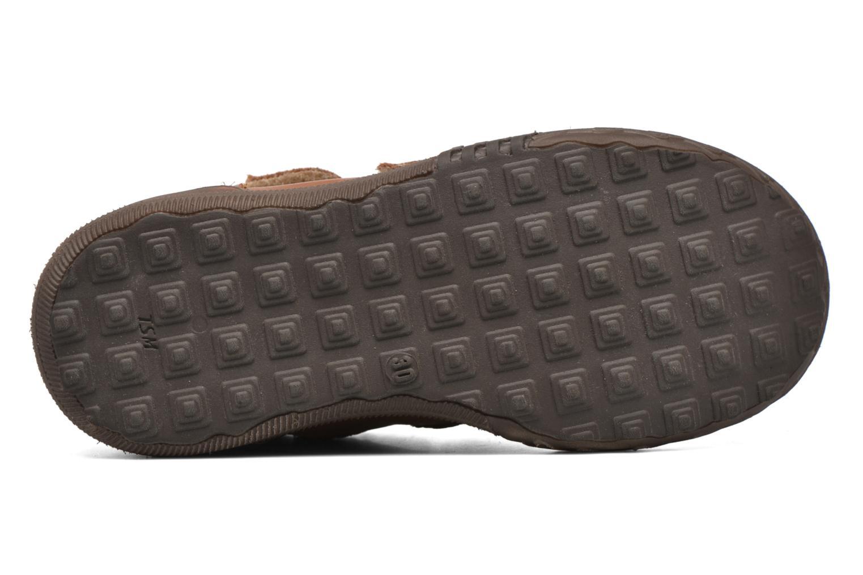 Zapatos con velcro Bopy Vayon Beige vista de arriba