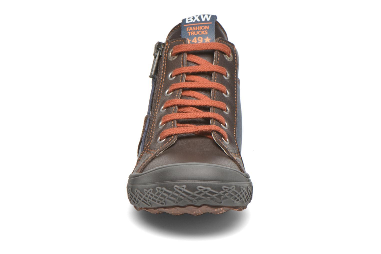 Baskets Bopy Venur Marron vue portées chaussures