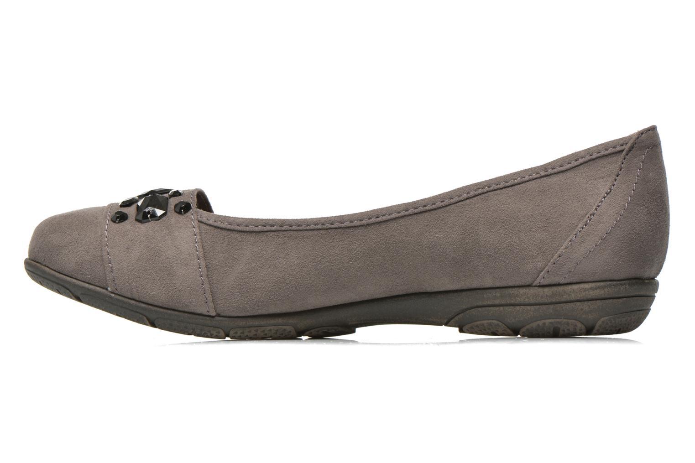 Ballet pumps Jana shoes Ammi Grey front view