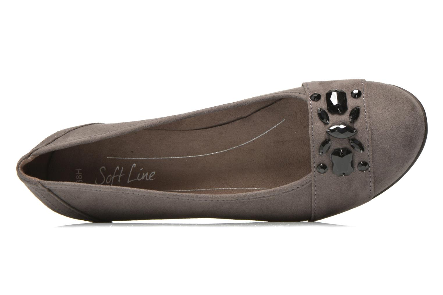 Ballet pumps Jana shoes Ammi Grey view from the left