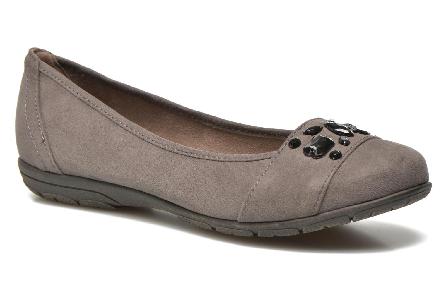 Ballet pumps Jana shoes Ammi Grey detailed view/ Pair view