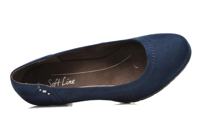 Escarpins Jana shoes Jiveo 2 Bleu vue gauche