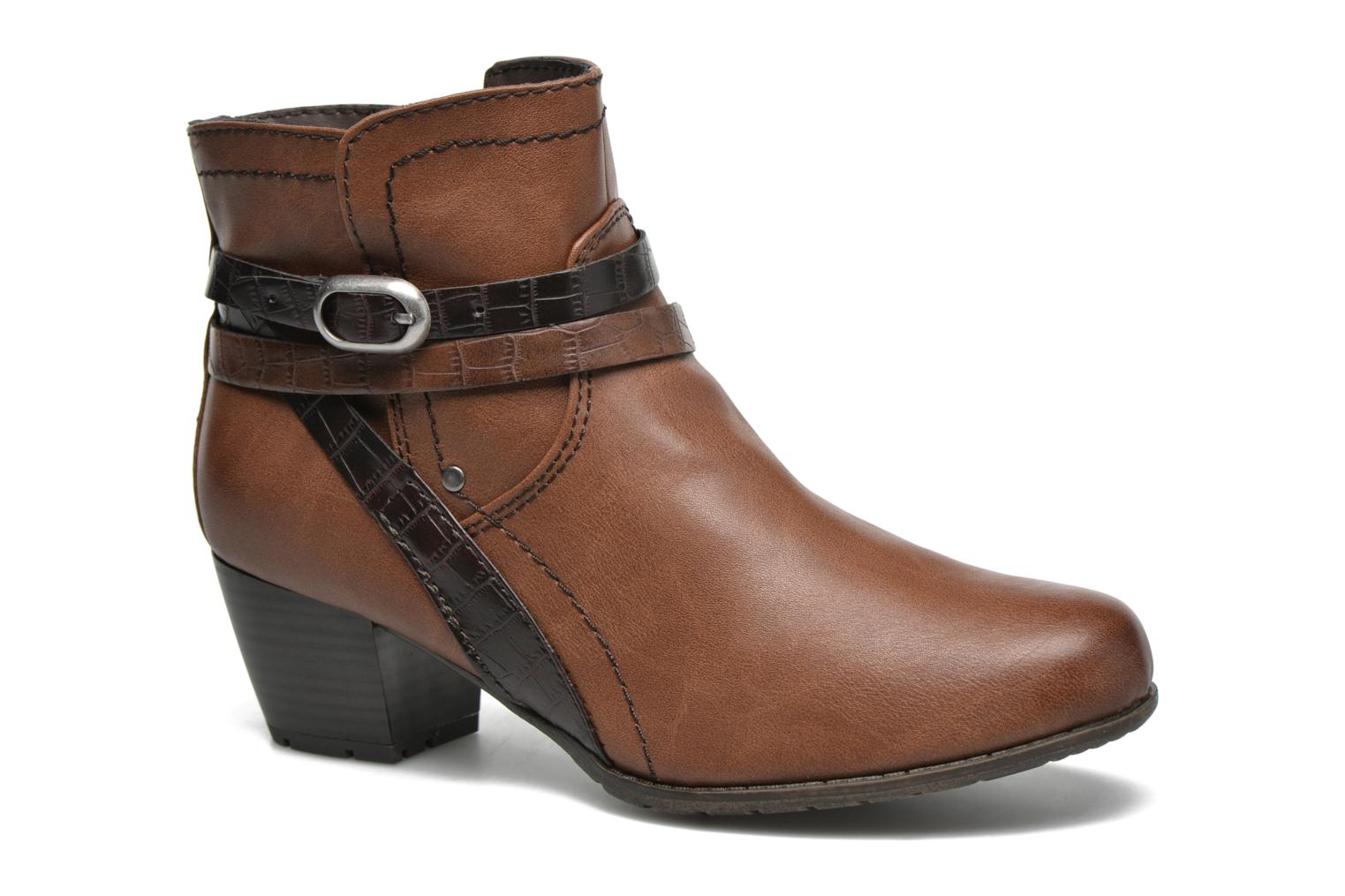Ankle boots Jana shoes Orchis Brown detailed view/ Pair view