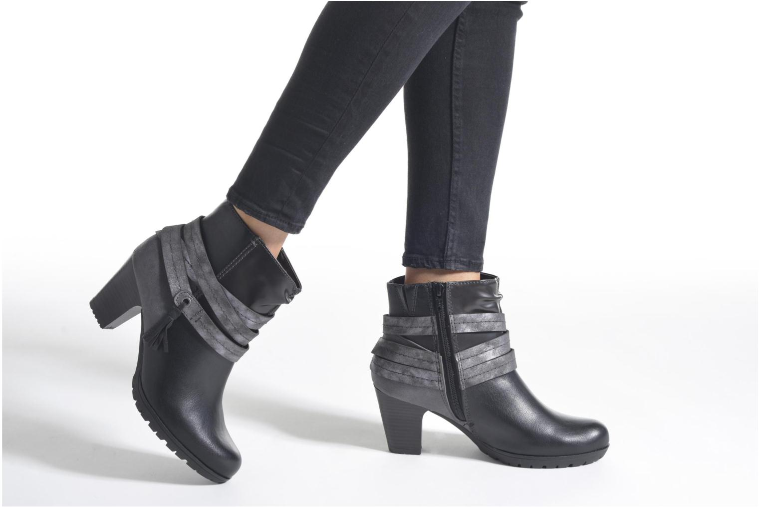 Ankle boots Jana shoes Silene Black view from underneath / model view