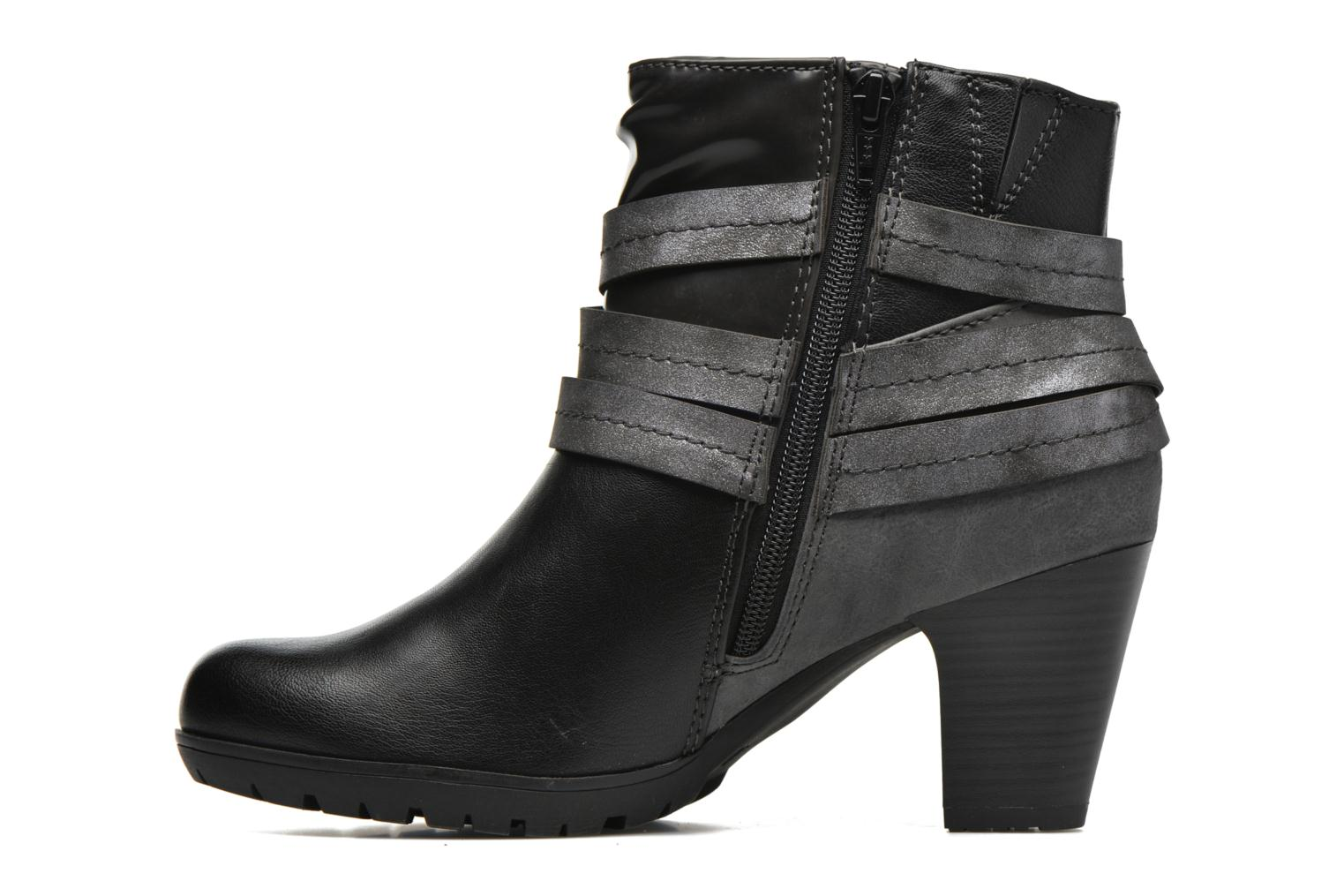 Ankle boots Jana shoes Silene Black front view