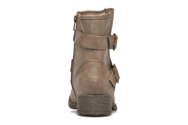 Botines  Jana shoes Monarde Beige vista lateral derecha