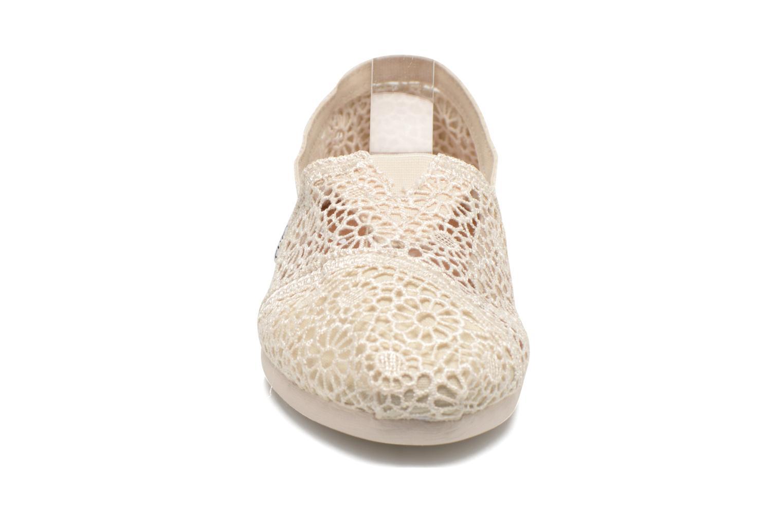 Baskets TOMS Alpargata Beige vue portées chaussures