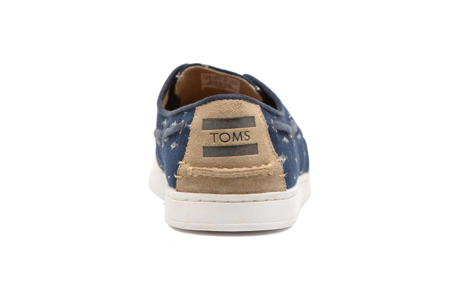 Zapatos con cordones TOMS Culver Lace Up Azul vista lateral derecha