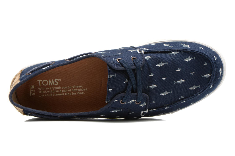 Chaussures à lacets TOMS Culver Lace Up Bleu vue gauche