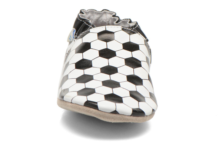 Chaussons Robeez Goal Noir vue portées chaussures