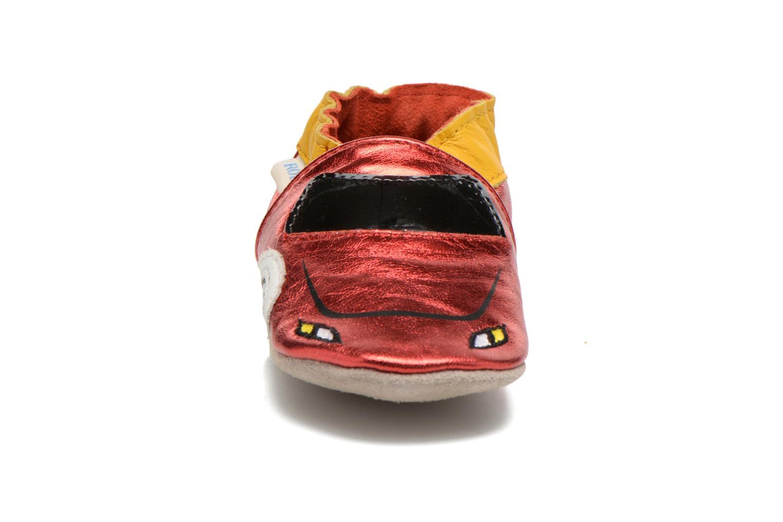 Chaussons Robeez Rocar Rouge vue portées chaussures