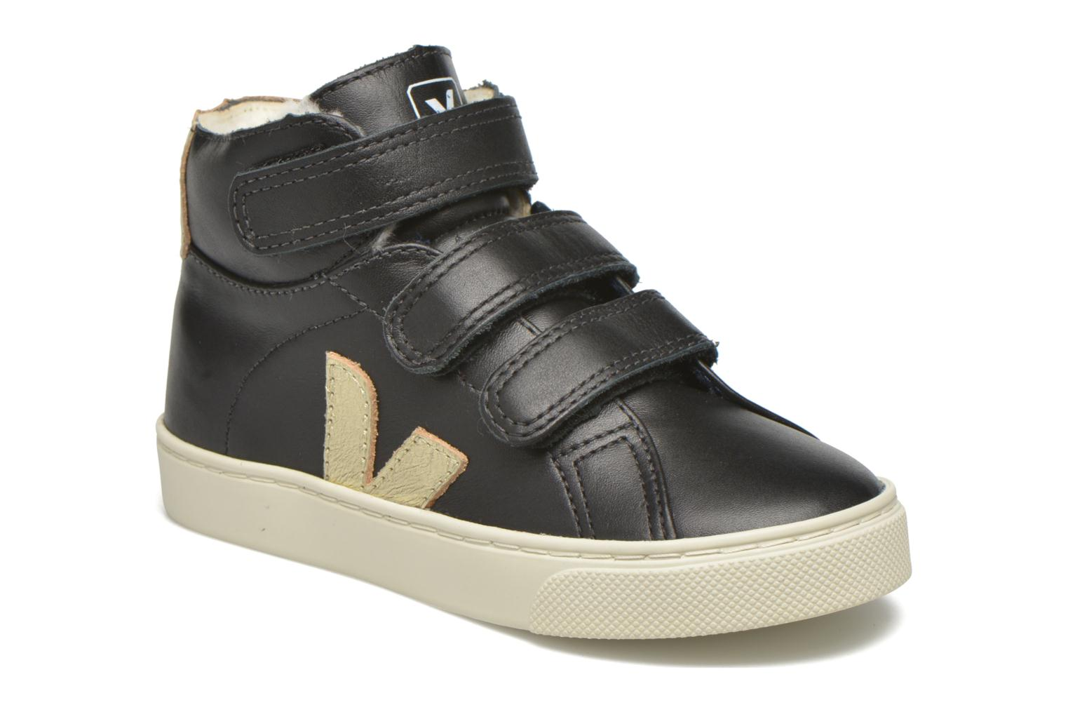 Esplar Mid Velcro Fured BLACK GOLD PIERRE