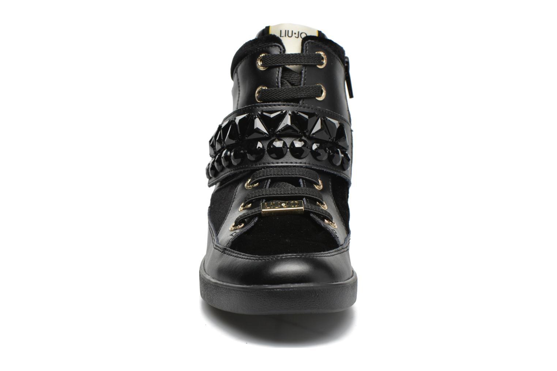 Baskets Liu Jo Sneaker Alta Geranio Noir vue portées chaussures