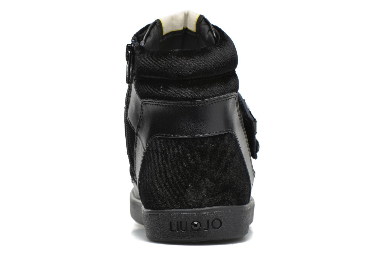 Baskets Liu Jo Sneaker Alta Geranio Noir vue droite