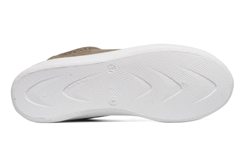Sneaker Lacci capri folio tortora/oro 06504