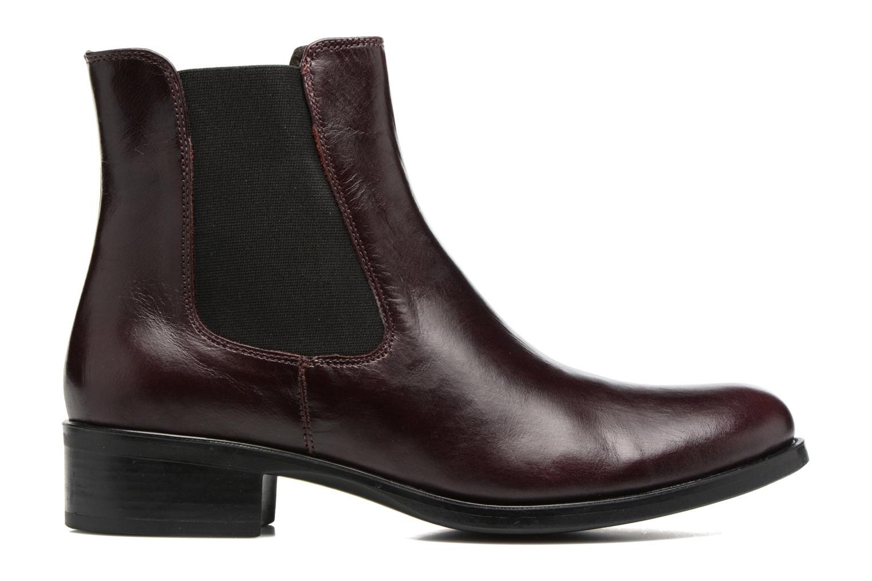 Bottines et boots Georgia Rose Abea Bordeaux vue derrière