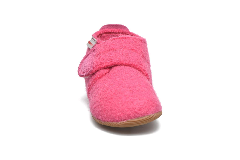 Pantofole Giesswein Oberstaufen Rosa modello indossato