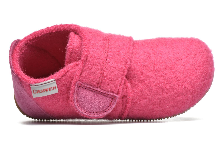 Pantofole Giesswein Oberstaufen Rosa immagine sinistra