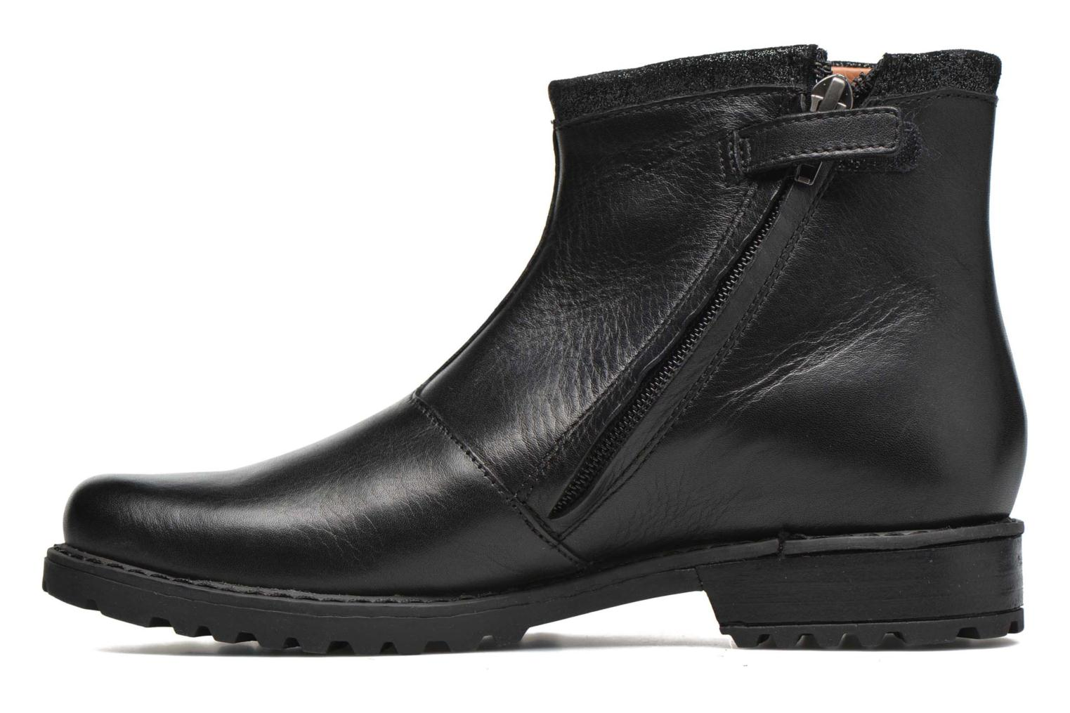Ankle boots Shwik Stampa Zip Black front view