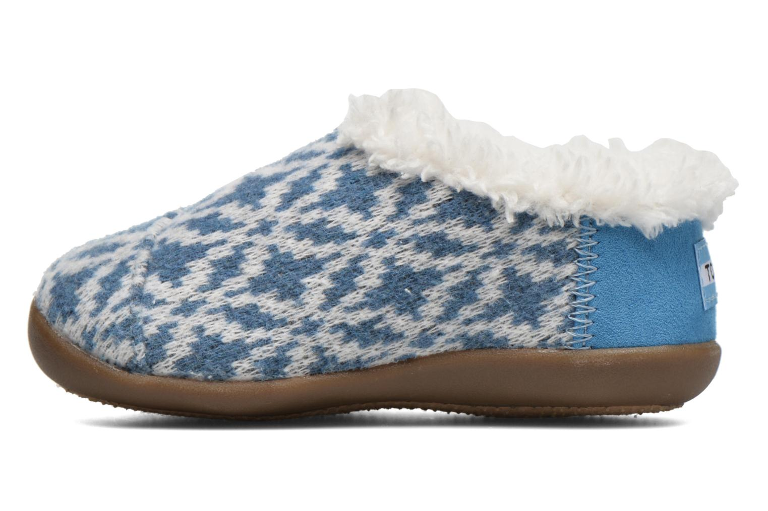 Chaussons TOMS House Slipper Bleu vue face