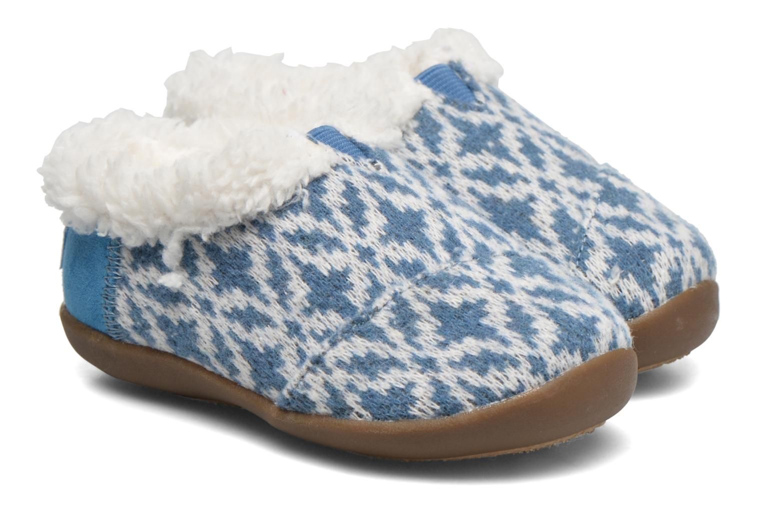 House Slipper Blue Fair Isle