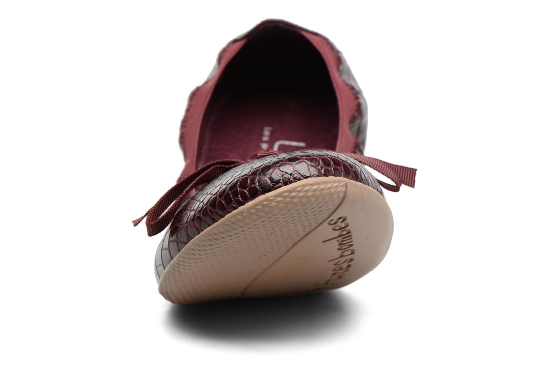 Ballerines Les P'tites Bombes Ella Bordeaux vue portées chaussures
