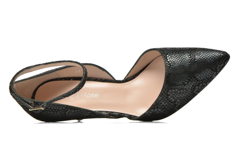 Zapatos de tacón Georgia Rose Ficelet Verde vista lateral izquierda