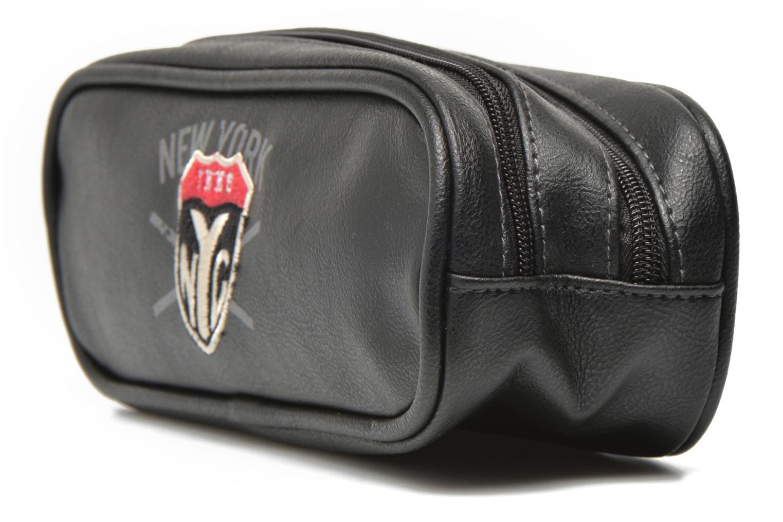 Scolaire IKKS Trousse double NYC Noir vue portées chaussures