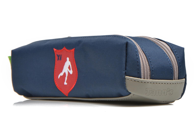 Scolaire Tann's Trousse double Rugby Bleu vue portées chaussures