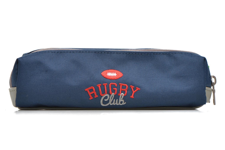 Scolaire Tann's Trousse double Rugby Bleu vue face