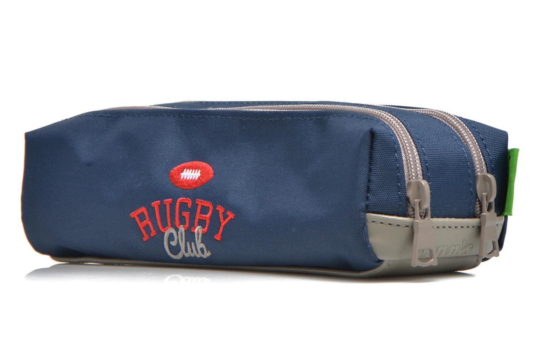 Schulzubehör Tann's Trousse double Rugby blau ansicht von rechts