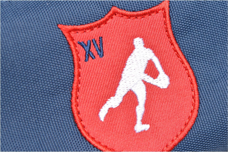 Schulzubehör Tann's Trousse double Rugby blau ansicht von links
