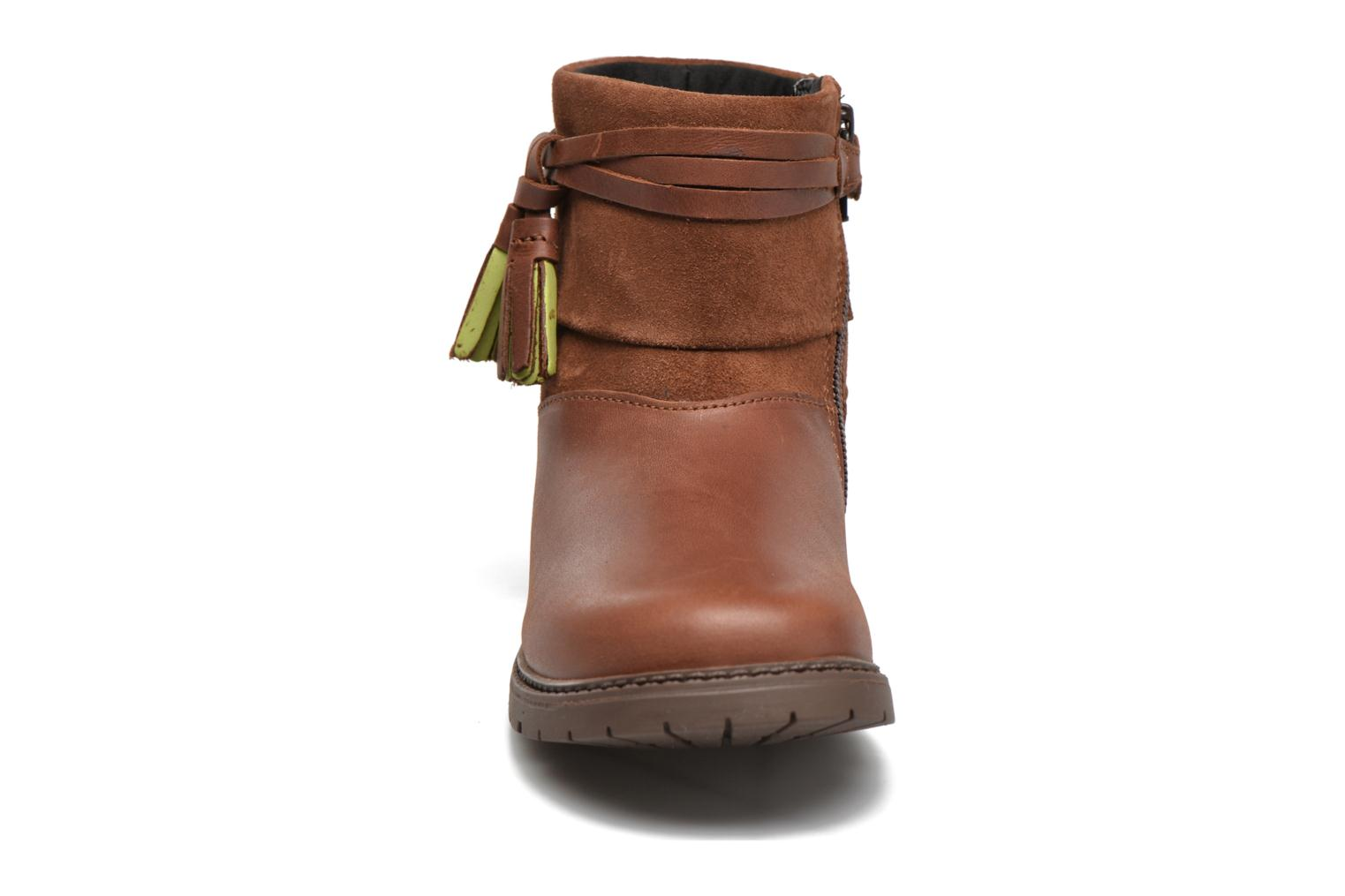 Aria Tan leather/suede