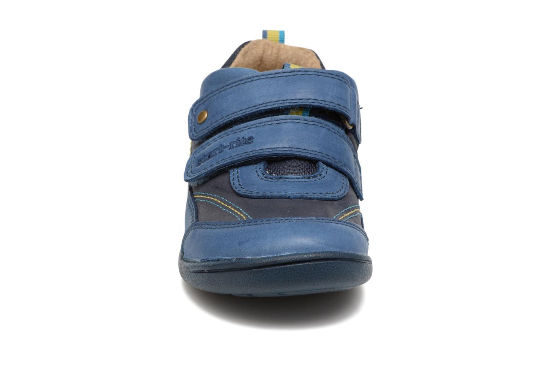 Chaussures à scratch Start Rite Leo Bleu vue portées chaussures