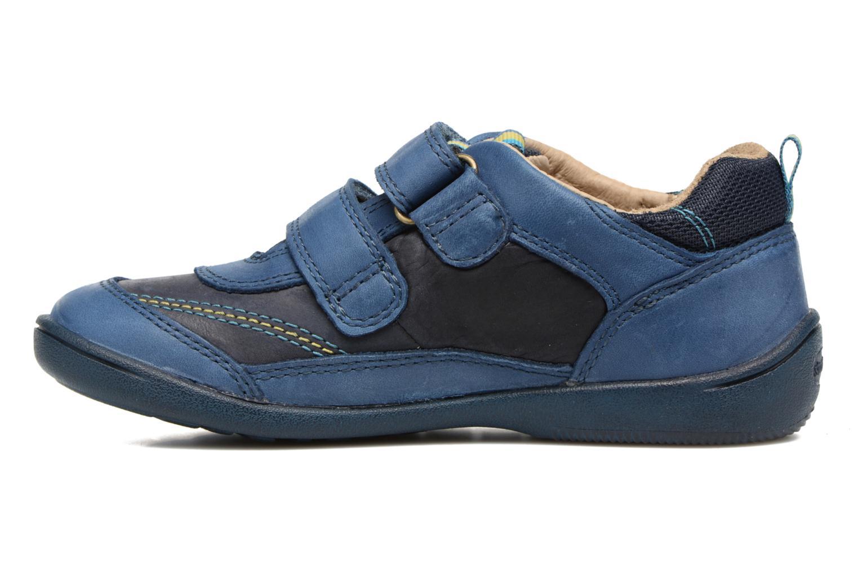 Chaussures à scratch Start Rite Leo Bleu vue face